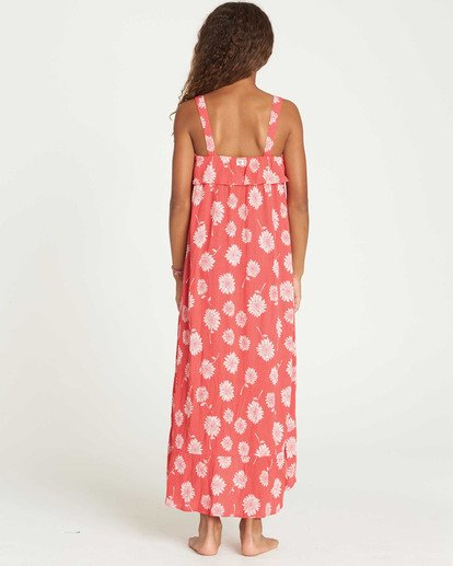 1 Girls' Monterey Bae Maxi Dress Red GD10TBMO Billabong