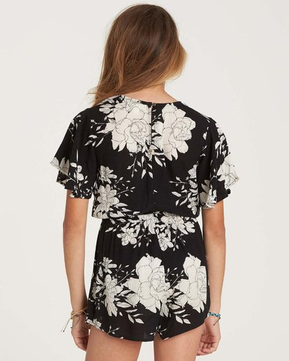 3 Girls' Night Flower Romper Black GN01NBNI Billabong