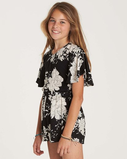 2 Girls' Night Flower Romper Black GN01NBNI Billabong