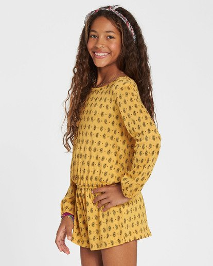 1 Girls' Ready Set Go Long Sleeve Romper  GN01SBRE Billabong