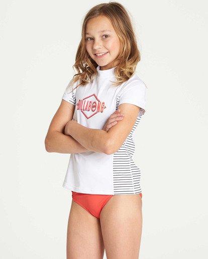 1 Girls' Surf Dayz Performance Short Sleeve Rashguard White GR03TBSD Billabong
