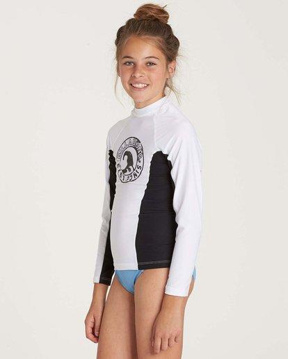 1 Girls' Surf Dayz Performance Long Sleeve Rashguard White GR52NBSD Billabong