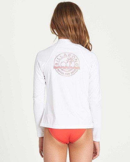 2 Girls' Surf Dayz Performance Long Sleeve Rashguard White GR55TBF2 Billabong