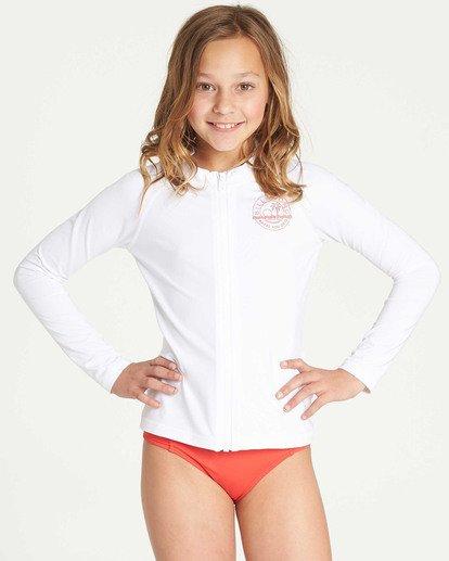0 Girls' Surf Dayz Performance Long Sleeve Rashguard White GR55TBF2 Billabong