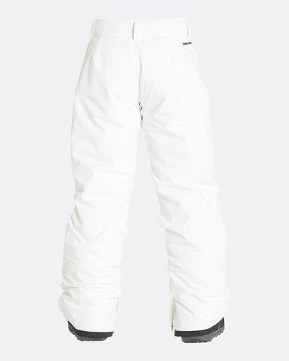 10 Girls' Alue Outerwear Pants White GSNPQALU Billabong