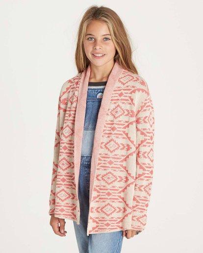 1 Girls' Tripped Up Sweater White GV02LTRI Billabong
