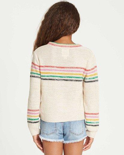 2 Girls' Sun Rays Sweater White GV02TBSU Billabong