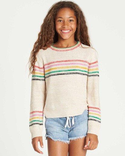 0 Girls' Sun Rays Sweater White GV02TBSU Billabong