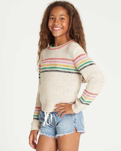 1 Girls' Sun Rays Sweater White GV02TBSU Billabong