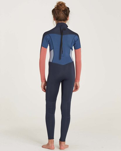2 Girls' 3/2 Synergy Back Zip Flat Lock Wetsuit  GWFUNBF3 Billabong
