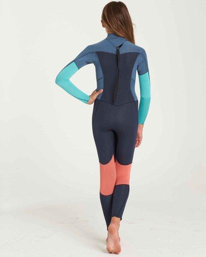 2 Girls' 3/2 Furnace Synergy Back Zip Fullsuit Grey GWFUQBB3 Billabong