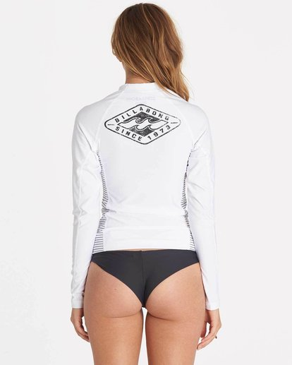 2 Girls' Surf Dayz Performance Fit Long Sleeve Rashguard White GWLYJSCL Billabong