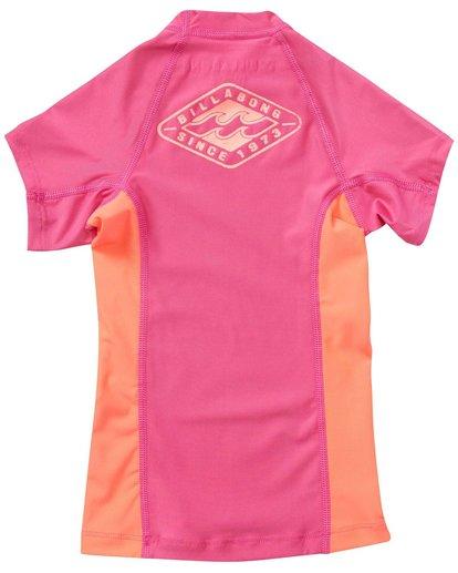 4 Girls' Surf Dayz Performance Fit Short Sleeve Rashguard Pink GWLYJSCS Billabong