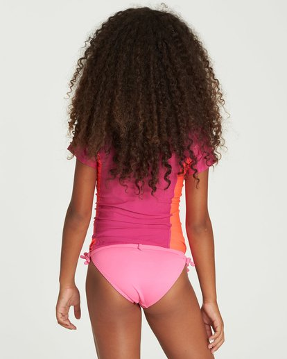2 Girls' Surf Dayz Performance Fit Short Sleeve Rashguard Pink GWLYJSCS Billabong