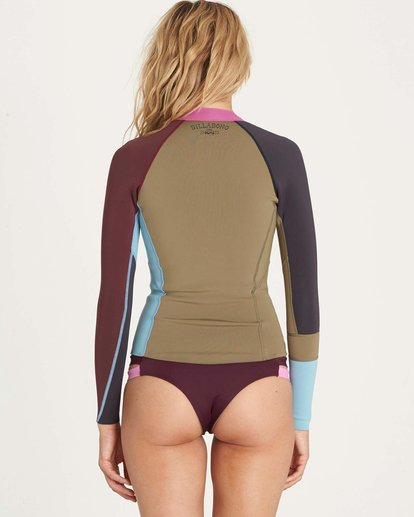2 Girls' Peeky Jacket Wetsuit Top  GWSHLSCL Billabong