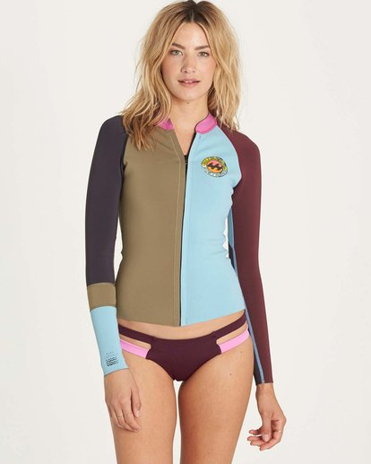 0 Girls' Peeky Jacket Wetsuit Top  GWSHLSCL Billabong