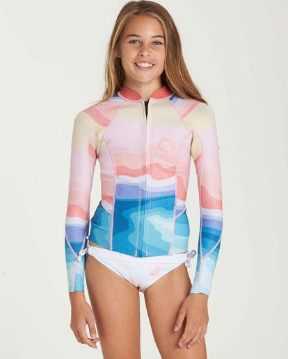 0 Girls' 1mm Peeky Wetsuit Jacket  GWSHQBSL Billabong