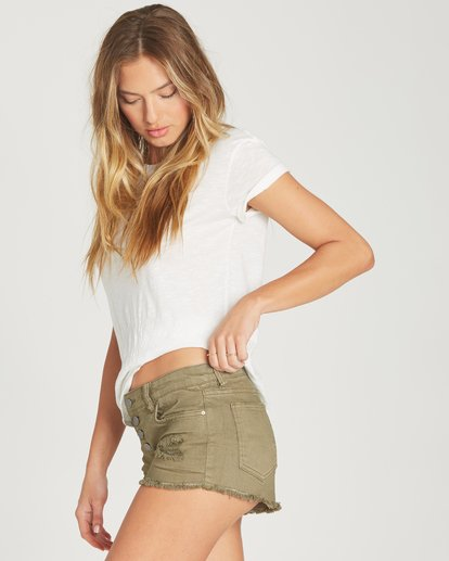 1 Buttoned Up Denim Short Green J204GBUT Billabong