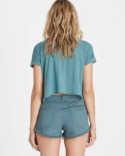 2 Buttoned Up Denim Short Beige J204GBUT Billabong