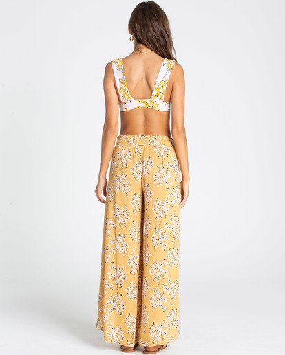2 Wandering Soul Wide-Leg Pant Yellow J301QBWA Billabong