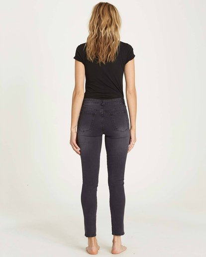2 Side By Side Skinny Jeans Black J306MSID Billabong