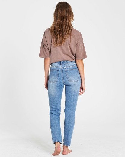 2 Button Cheeky High-Rise Jeans Blue J307SBBU Billabong