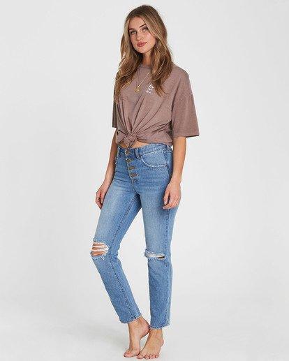1 Button Cheeky High-Rise Jeans Blue J307SBBU Billabong