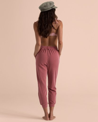 2 Sincerely Jules Feeling Free Sweatpant Red J309TBFE Billabong
