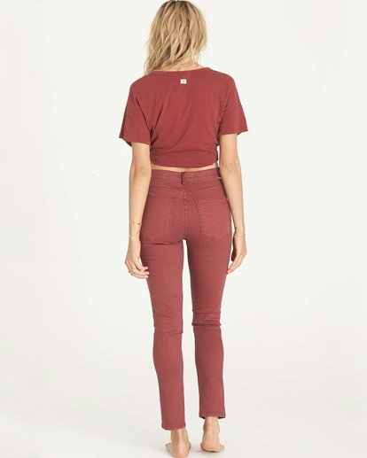 2 Bestie Denim Pant Red J317LBES Billabong