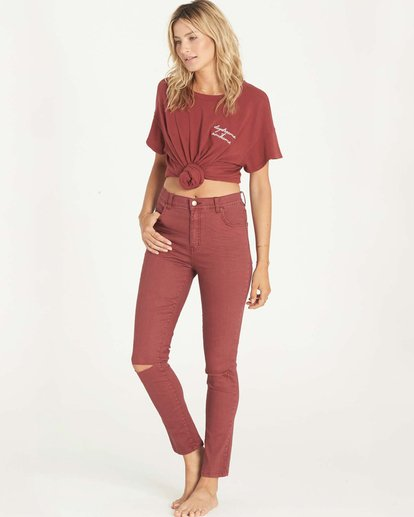 1 Bestie Denim Pant Red J317LBES Billabong