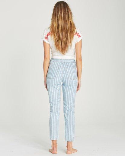 1 Cheeky Stripe High-Waisted Denim Pant Blue J319TBCH Billabong
