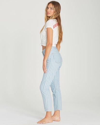 2 Cheeky Stripe High-Waisted Denim Pant Blue J319TBCH Billabong