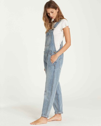 1 All Over Denim Overalls Blue J339QBAL Billabong