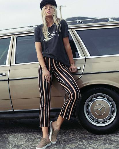 0 Sun Down Crop Cropped Pant Brown J342SBSU Billabong