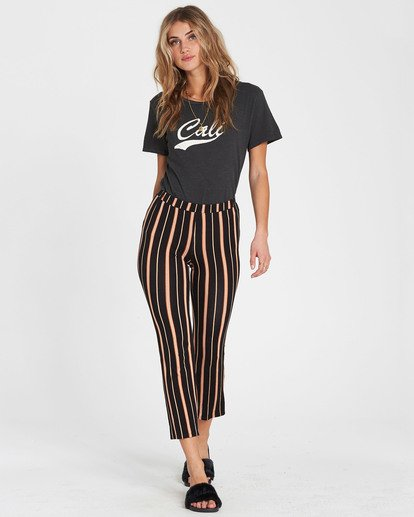 4 Sun Down Crop Cropped Pant Brown J342SBSU Billabong