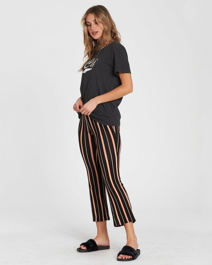 2 Sun Down Crop Cropped Pant Brown J342SBSU Billabong