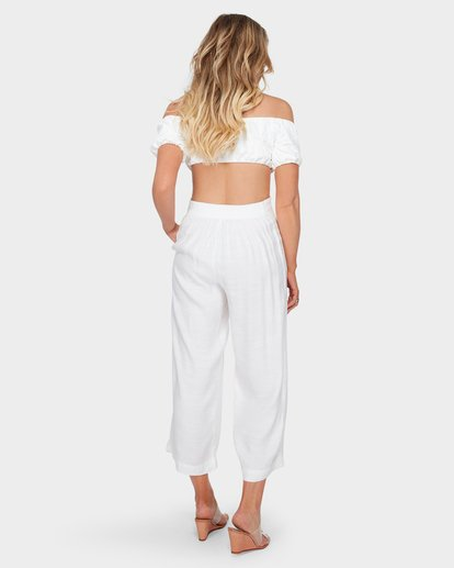 3 Luna Pant White J350SBLU Billabong