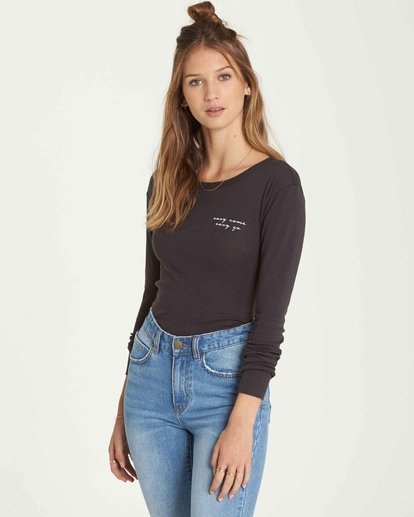 0 Easy Come And Go Long Sleeve Black J424QBEA Billabong