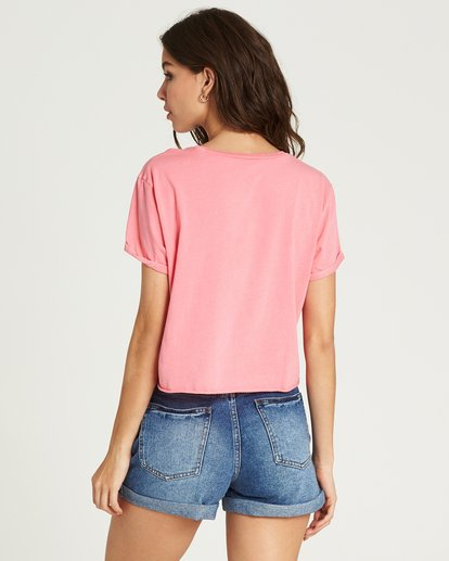 2 Buns All Day Crop Tee Pink J436PBBU Billabong
