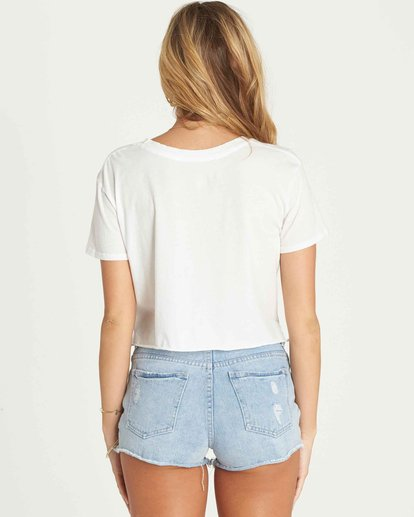 2 Hello Summer Crop Tee Beige J436PBHE Billabong