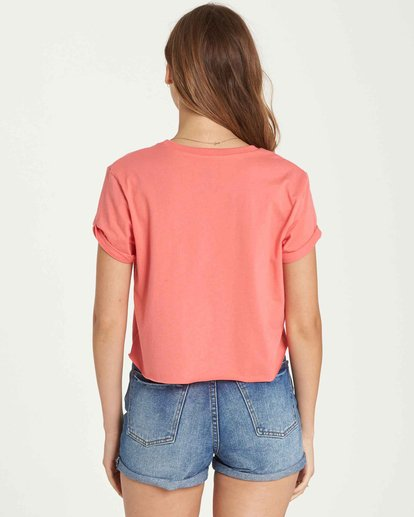 2 Feelin' Free Crop Tee Orange J436QBFE Billabong
