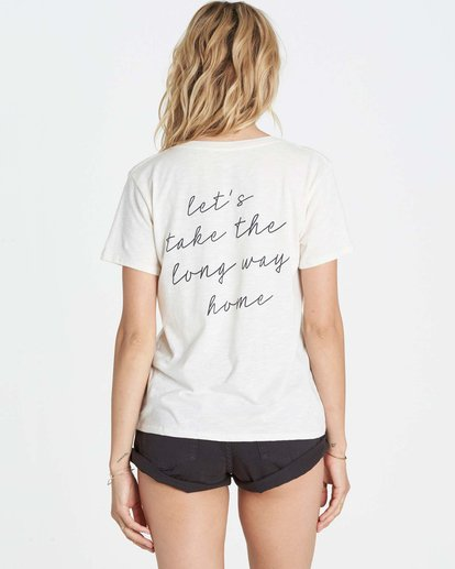 2 Long Way Home Boyfriend Tee  J437LLON Billabong