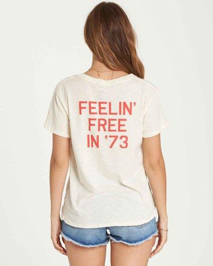 2 Feelin' Free Tee White J437QBFE Billabong