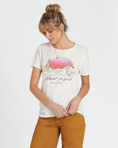 2 Desert Nights Tee White J437SBDE Billabong