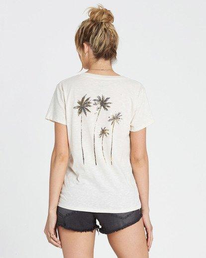 2 Sunshine Palms Tee White J437SBSU Billabong