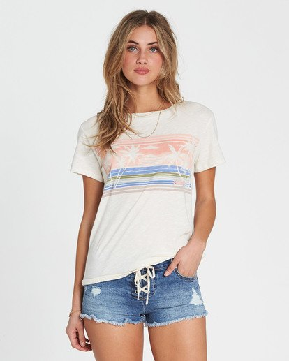 0 Watercolor Ocean Tee White J437SBWA Billabong