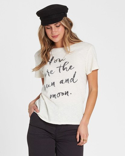 0 You Are The Sun Tee White J437SBYO Billabong