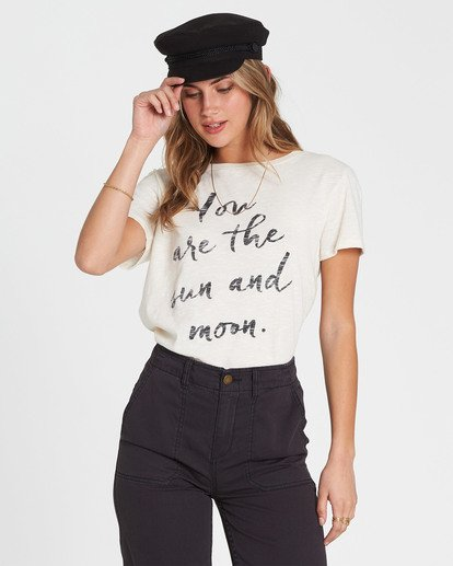 3 You Are The Sun Tee White J437SBYO Billabong
