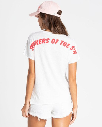 4 Seekers Of The Sun Tee White J437TBSE Billabong