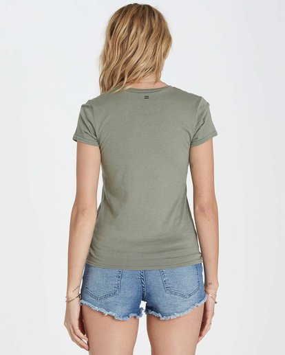 2 Restless Heart Tee Green J441MRES Billabong